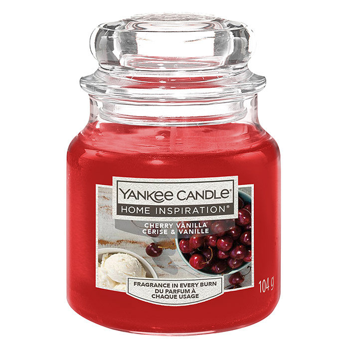 Yankee Candle Home Inspirations Duftkerze (Im Glas, Cherry Vanilla, Small)
