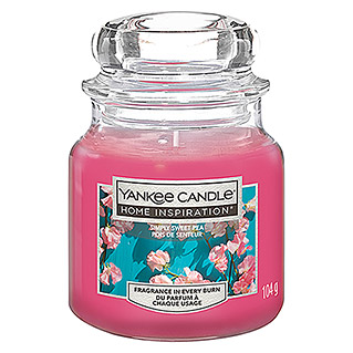 Yankee Candle Home Inspirations Duftkerze (Im Glas, Simply Sweet Pea, Small)