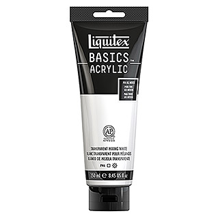 Liquitex Basics Acrylfarbe (Transparent Mischweiß, 250 ml, Tube)
