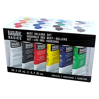 Liquitex Basics Acrylfarben-Set (24 x 22ml)