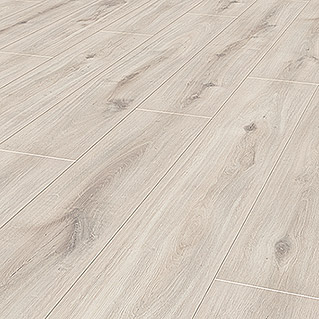 LOGOCLIC Aquaprotect Laminat Beach Oak (1.285 x 192 x 8 mm, Landhausdiele)