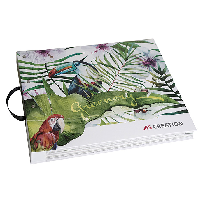 AS Creation Greenery Tapetenbuch Verleih (50 x 50 x 5 cm, 77 Tapetendesigns, Vliestapete) -