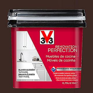 V33 Esmalte Cocinas Renovation Perfection negro cuarzo (750 ml, Satinado)