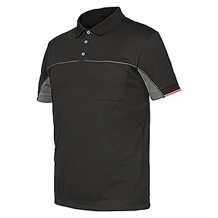 Industrial Starter Stretch Polo Extreme (L, Gris oscuro)