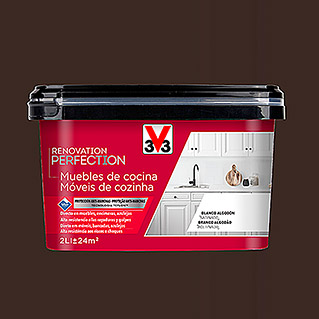 V33 Esmalte Cocinas Renovation Perfection negro cuarzo (2 l, Satinado)