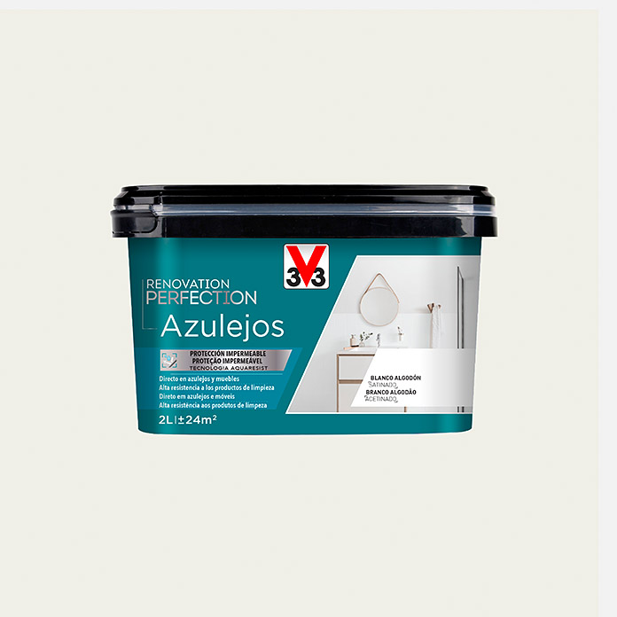 V33 Esmalte para azulejos Renovation Perfection (Lino, 2 l, Satinado)