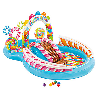 Intex Planschbecken Candy Zone Play Center (L x B x H: 295 x 191 x 130 cm, Volumen: 374 l, Mehrfarbig)