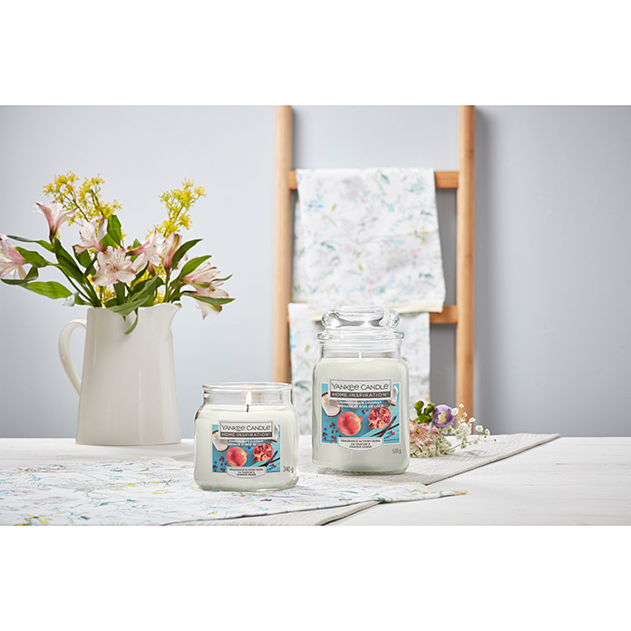 Yankee Candle Home Inspirations Duftkerze (Im Glas, Pomegranate Coconut, Large)