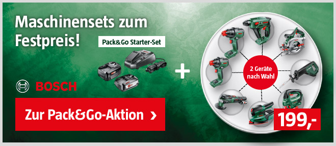 Bosch Pack&GO Aktion