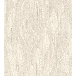 FREUNDIN HOME COLLECTION III Vliestapete Welle (Creme, Wellen, 10,05 x 0,53 m)