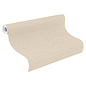 FREUNDIN HOME COLLECTION III Vliestapete II (Beige, Uni, 10,05 x 0,53 m)