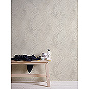 AS Creation Neue Bude 2.0 Vliestapete Palme (Creme, Floral, 10,05 x 0,53 m)