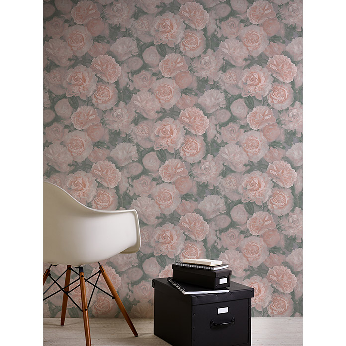AS Creation Neue Bude 2.0 Vliestapete Barock (Rosa, Floral, 10,05 x 0,53 m)