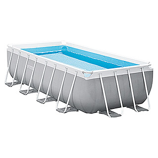 Intex Frame-Pool-Set Prism Quadra (L x B x H: 488 x 244 x 107 cm, 10,87 m³, Grau)