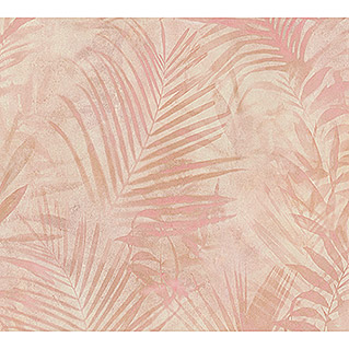 AS Creation Neue Bude 2.0 ED II Vliestapete Palme (Rosa, Floral, 10,05 x 0,53 m)