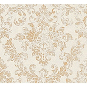 AS Creation Neue Bude 2.0 ED II Vliestapete Damask (Weiß/Gold, Ornament, 10,05 x 0,53 m)