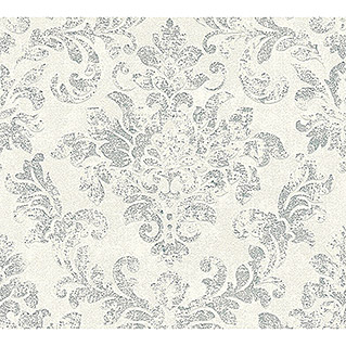 AS Creation Neue Bude 2.0 ED II Vliestapete Damask (Weiß/Silber, Ornament, 10,05 x 0,53 m)