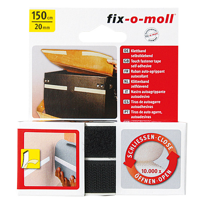 Fix-o-moll Klettband  (1,5 m x 20 mm)