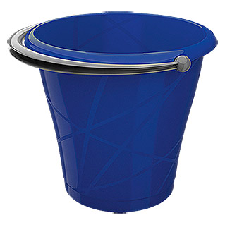KIS Exclusive Eimer  (12 l, Blau/Metallic Grau)