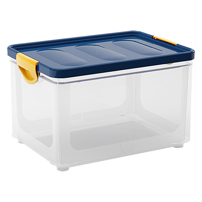 kis clipper box 33 l blau transparent mit deckel bauhaus. Black Bedroom Furniture Sets. Home Design Ideas