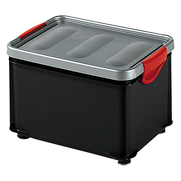 KIS Clipper Box (20 l, Anthrazit/Metall, Mit Deckel)