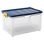 KIS Clipper Box (55 l, Blau/Transparent, Mit Deckel)