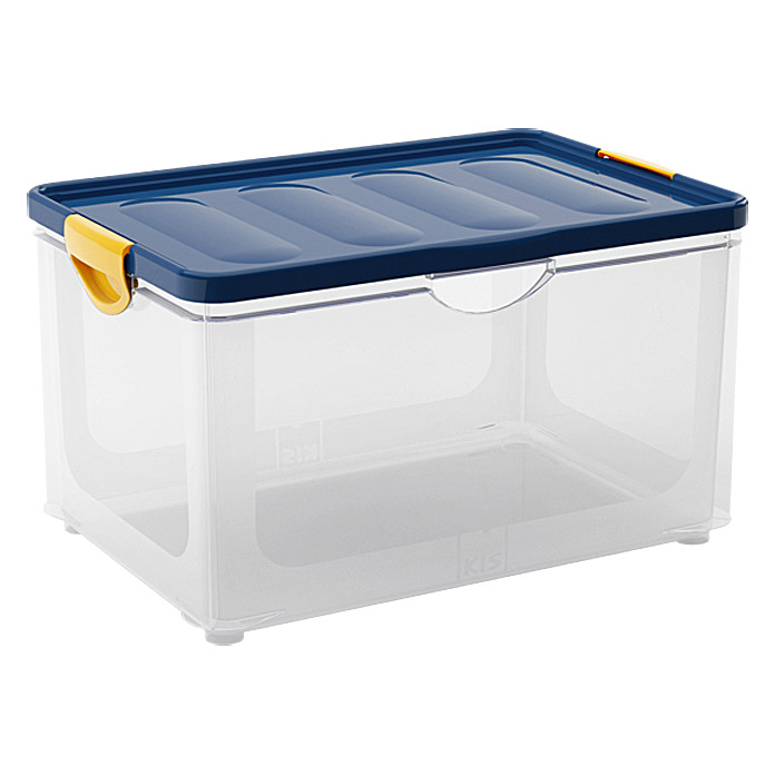 KIS Clipper Box  (55 l, Blau/Transparent)