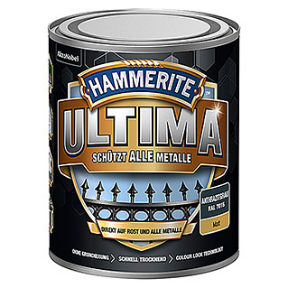 Hammerite Metall-Schutzlack ULTIMA (RAL 7016, Anthrazitgrau, 750 ml, Matt)