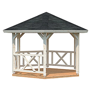 Palmako Pavillon Betty (L x B: 337 x 337 cm, Natur)