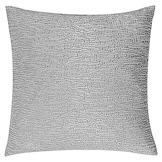FREUNDIN HOME COLLECTION Natural Moments Kissen (Uni-Blasenkrepp, Grau, 45 x 45 cm, Material Bezug: 100 % Polyester)