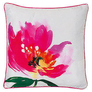 FREUNDIN HOME COLLECTION Summer Breeze Kissen (Blume, Bunt, 45 x 45 cm, Material Bezug: 100 % Polyester)