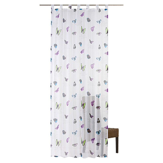 FREUNDIN HOME COLLECTION Summer Breeze Schlaufenschal (140 x 255 cm, Bunt, Schmetterlinge)
