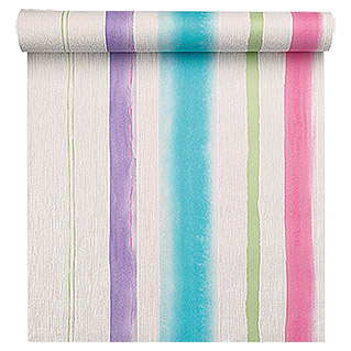 FREUNDIN HOME COLLECTION Summer Breeze Vliestapete (Bunt, Streifen, 10,05 x 0,53 m)