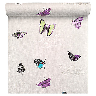 FREUNDIN HOME COLLECTION Summer Breeze Vliestapete (Bunt, Schmetterlinge, 10,05 x 0,53 m)