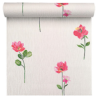 FREUNDIN HOME COLLECTION Summer Breeze Vliestapete (Bunt, Motiv, Blumen, 10,05 x 0,53 m)