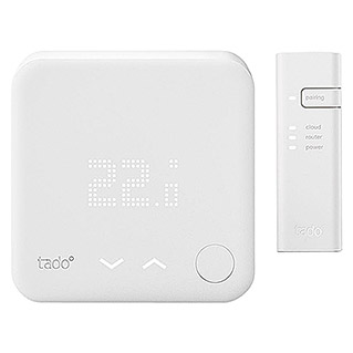 Tado Smartes Thermostat-Set Starter Kit V3+BR (Internet Bridge, Smarte Steuerung: Tado App)