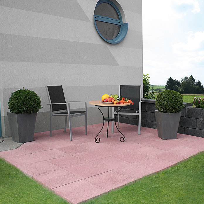 EHL Terrassensystem Altano Variante 1M (Rot, Farbe Mauer: Anthrazit)