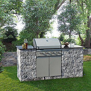 EHL Outdoorkitchen-Set Mini (Grau/Anthrazit)