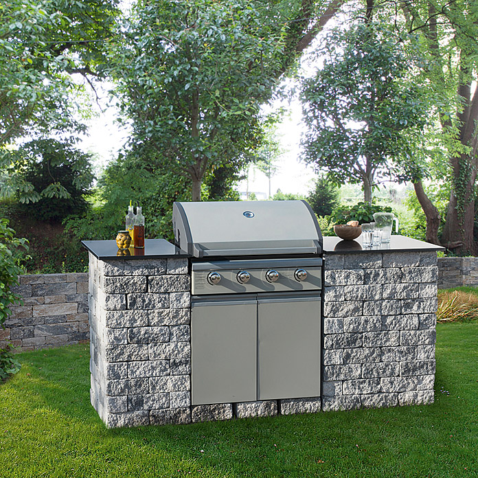 EHL Outdoorkitchen Set Mini (Grau/Anthrazit, 200 X 77 X 100 Cm