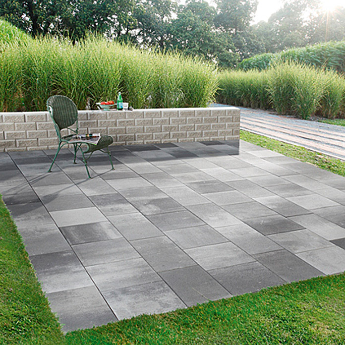 ehl terrassensystem trendania variante 3m grau anthrazit 3 9 x 6 m farbe mauer granit hell. Black Bedroom Furniture Sets. Home Design Ideas