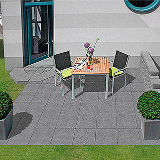 EHL Terrassensystem Aviano Variante 3M (Anthrazit, 4 x 6 m, Farbe Mauer: Granit Hell)