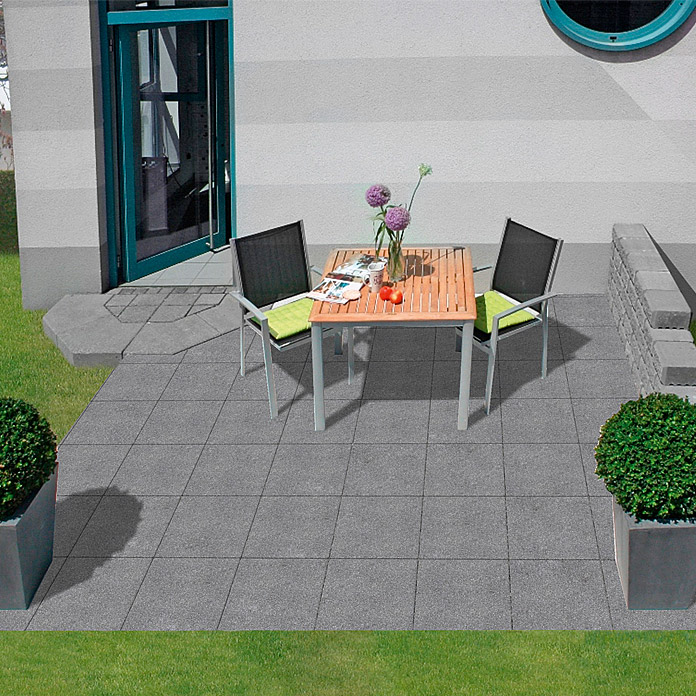 EHL Terrassensystem Aviano Variante 3M (Anthrazit, Farbe Mauer: Granit Hell)