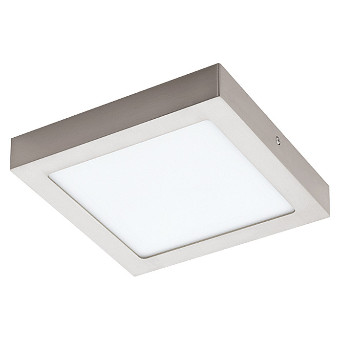 Tween Light LED-Deckenleuchte Tinus (16,5 W, Warmweiß, 225 x 225 mm, Nickel matt)