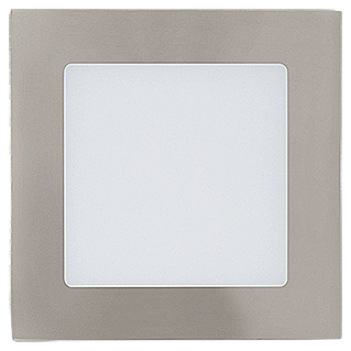 Tween Light LED-Einbauleuchte (5,5 W, Warmweiß, 120 x 120 mm, Nickel matt)