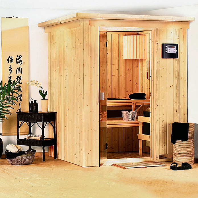 karibu systemsauna norin mit sauna bio ofen 9 kw inkl. Black Bedroom Furniture Sets. Home Design Ideas