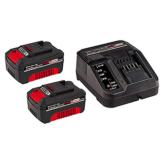Einhell Power X-Change Kit de arranque cargador + 2 baterías (18 V)