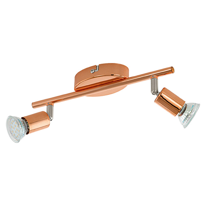 LED SPOT 2FL.KUPFER BUZZ-COPPER