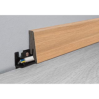 LOGOCLIC Aquaprotect Sockelleiste K58 Sunset Oak (2,6 m x 18 mm x 58 mm, Gerade)