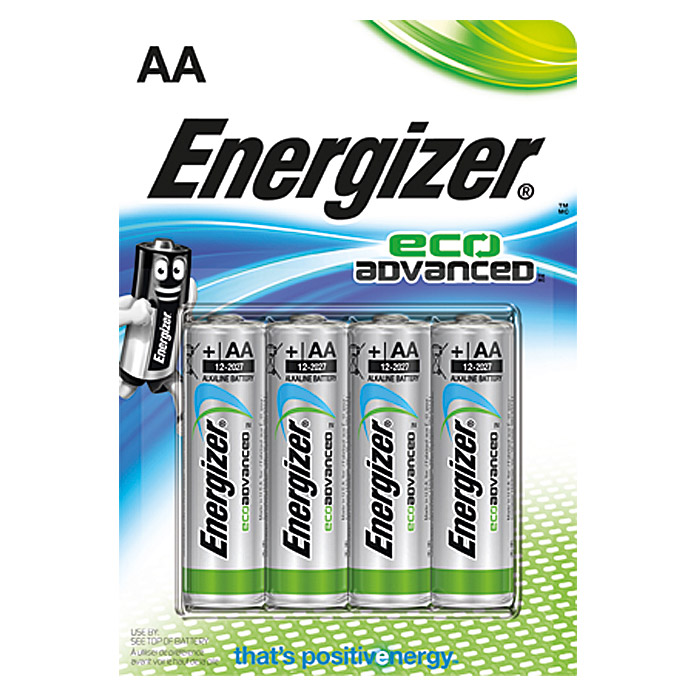 ENERGIZER ECO       ADVANCED  AA  4ER P.