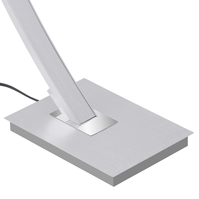 Brilo Lámpara de pie LED (18 W, Plateado, Altura: 16,5 cm)